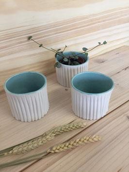 Lot de 3 pots pour plante
