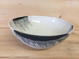 Coupe Noir & Blanc, porcelaine