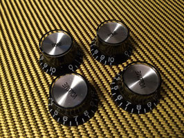 Bell Reflector Knobs for Japan Guitars, Metric, 4 Pcs.