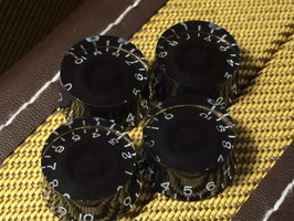 Speed Knobs Black for all Japan Guitars, Metric, 4 Pcs.