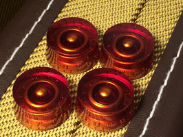 Speed Knobs Transparent Amber, Metric, 4 Pcs.