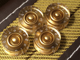 Speed Knobs, Gold, Inch-Version, 4 Pcs.