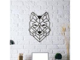 Loup Déco Mural Géométrique
