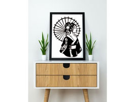 Geisha 2D Art
