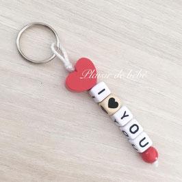 "Porte clefs ""I LOVE YOU"""