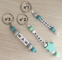 "Porte clefs ""Maman"" Vert"
