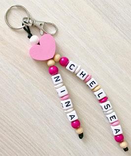 Porte clefs 2 prénoms