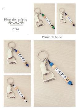 """Porte clefs """"PAPA"""" décapsuleur"""