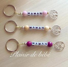 """Porte clefs arbre de vie """" Maman"""""""
