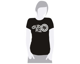 T-Shirt Noir Femme Dub K'2 - Vintage Logo