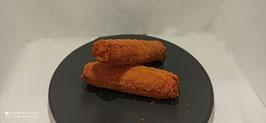 Roll di prosciutto cotto e mozzarella panati gr80-prezzo al pz
