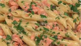 Penne Gamberi e Salmone - 500g-prezzo al pz