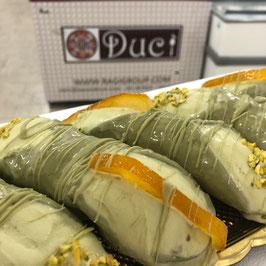Cannolo Siciliano con gelato al pistacchio- prezzo alo pz