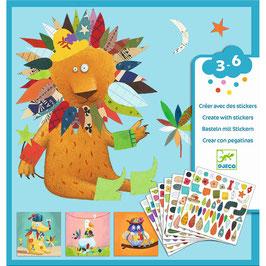 Djeco Basteln mit Stickern - Tiere