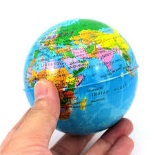 Schaumgummiball Globus Durchmesser ca.7 cm