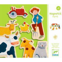 Djeco Magnetset 24-teilig Bauernhoftiere