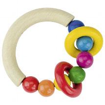Greifring halbrund mit Perlen und zwei Ringen