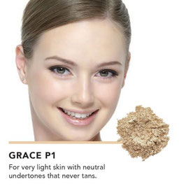 Inika loose mineral foundation spf25 grace p1