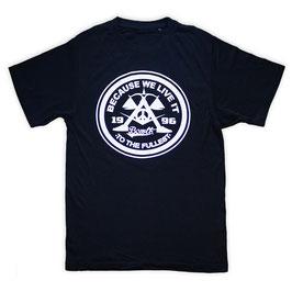 """BECAUSE WE LIVE IT original badge"" T-shirt // black"