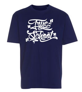 """True School"" T-shirt // navy blue"