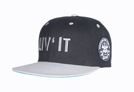 """LIV'IT"" snapback cap // black & light grey"