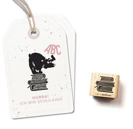 27495 Stempel Bücherstapel