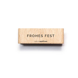 27566 Textstempel Frohes Fest
