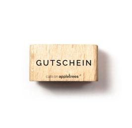 27472 Textstempel Gutschein