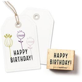 2307 Textstempel Happy Birthday 1