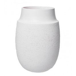 AYA2WS Vase, weiße Strukturlackierung