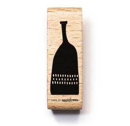 2662 Stempel Blumevase Flasche