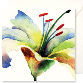 3352 GREETING CARD FIORI - WATERCOLOR OF LILY