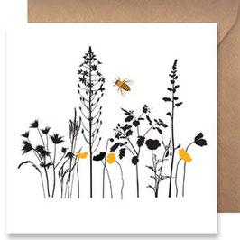 3512 GREETING CARD SHADOWS - YELLOW DAFFODILS