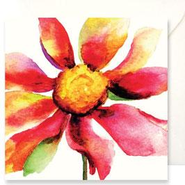 3356 GREETING CARD FIORI - WATERCOLOR OF FLOWER