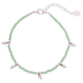 Armband Color beads green