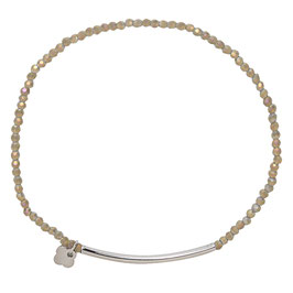 Armband Crystal beads bar grey