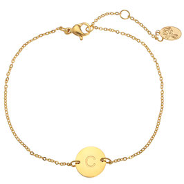 Armband Letter Coin Gold