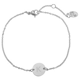 Armband Letter Coin Silver