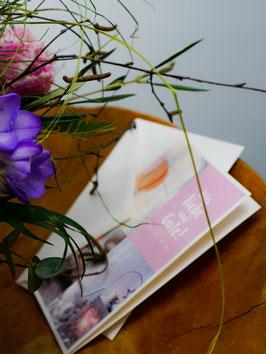 Grußkarte mit Blumenmotiv oder Themenbezogen (z.B. Ostern, Geburtstag, Weihnachten ect.)