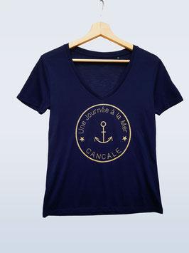 Tee-shirt femme Marine  Une Journée à la Mer Cancale©
