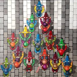 Pyramide de scoots