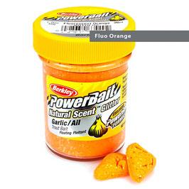 Powerbait Natural Scent Glitter Garlic Fluo Orange