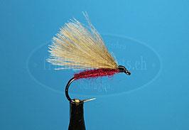 Trockenfliege CDC Nr.3/Caddis rot