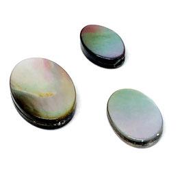 Lockplättchen Silver oval