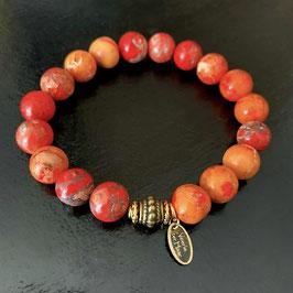 Jaspis red/orange 10mm