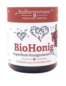 BioHonig mit ganzen Walnüssen