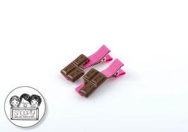 1 paar knipjes: Chocolade