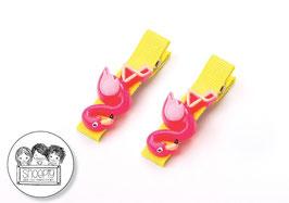 1 paar knipjes: Flamingo