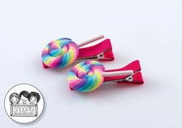 1 paar knipjes: Swirl lolly 1