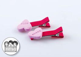 1 paar knipjes: Snoephartjes Roze